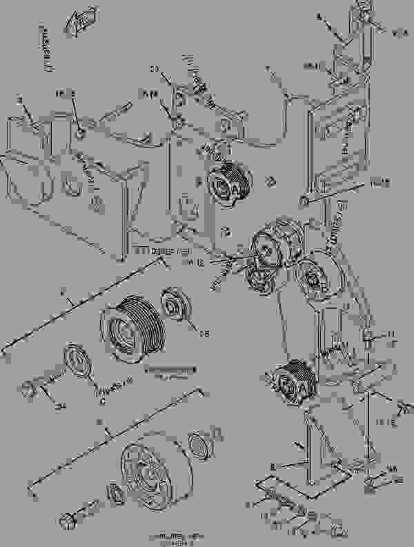 Parts scheme 1977433 MOUNTING GROUP-BELT TENSIONER   - CHALLENGER Caterpillar MT835 - C-12, C-15, C-16 Caterpillar Engines For AGCO Challenger BAM00001-UP (MACHINE) BASIC ENGINE | 777parts