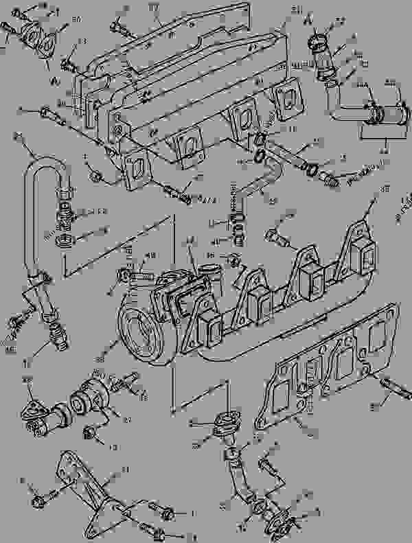 Parts scheme 1509525 TURBOCHARGER GROUP   - ENGINE - GENERATOR SET Caterpillar 3054 - 3054 Generator Set Engine 2PW00001-UP AIR INLET AND EXHAUST SYSTEM | 777parts