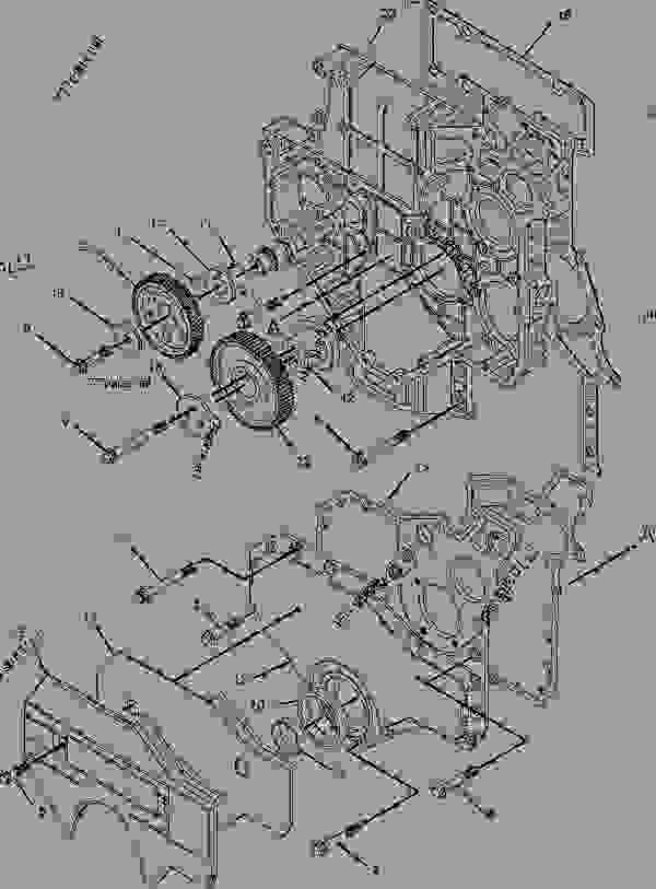 Parts scheme 2216835 HOUSING GROUP-FRONT   - ASPHALT PAVER Caterpillar AP-655C - AP-655C.BG-2255C Asphalt Paver CDG00001-UP (MACHINE) POWERED BY 3056 Engine BASIC ENGINE | 777parts