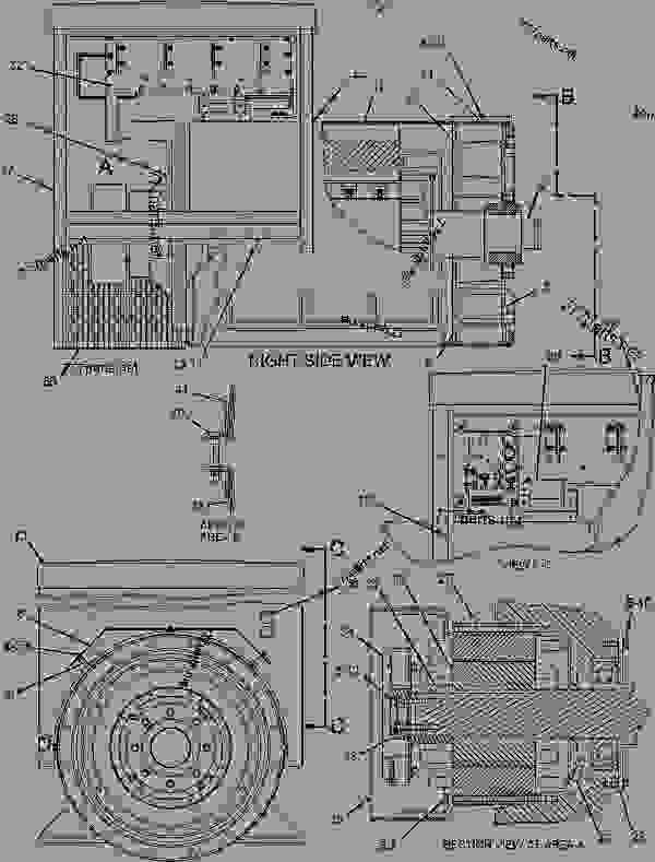 Parts scheme 1091624 GENERATOR AR   - ENGINE - GENERATOR SET Caterpillar 3412C - 3412C Generator Set BAK00001-UP GENERATORS | 777parts