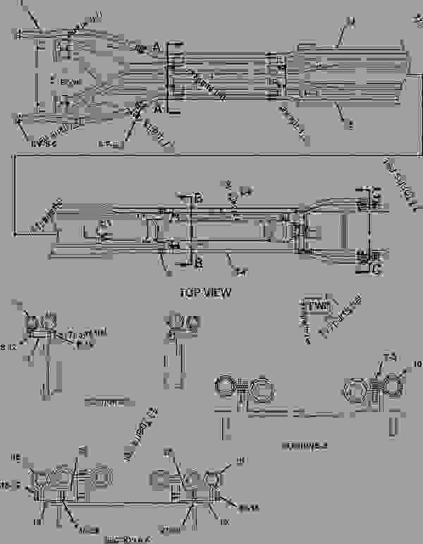 Parts scheme 1940179 HOSE GROUP-HYDRAULIC  -CONTROL VALVE, STICK - EXCAVATOR Caterpillar 330D LN - 330D L & 330D N Hydraulic Excavator GGE00001-UP (MACHINE) POWERED BY C-9 Engine HYDRAULIC SYSTEM | 777parts