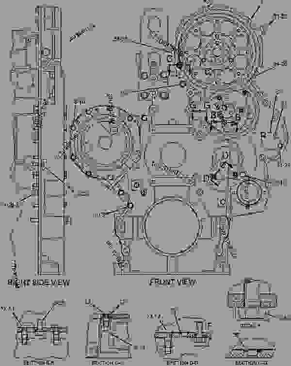 Parts scheme 1375922 HOUSING GROUP-FRONT   - ENGINE - GENERATOR SET Caterpillar 3406E - 3406E Generator Set Engine 9NN00001-UP BASIC ENGINE | 777parts