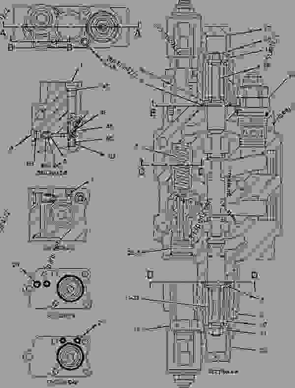 Parts scheme 1946757 VALVE GROUP-CONTROL  -LIFT - BACKHOE LOADER Caterpillar 430D - 430D Backhoe Loader BML00001-02280 (MACHINE) POWERED BY 3054 Engine HYDRAULIC SYSTEM | 777parts