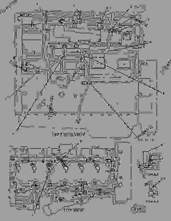 2225969 WIRING GROUP-ENGINE ELECTRONIC - ENGINE - TRUCK Caterpillar on