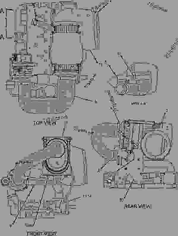 Parts scheme 2341979 AIR CLEANER GROUP  -TURBOCHARGED - BACKHOE LOADER Caterpillar 432D - 432D Backhoe Loader TDR00001-UP (MACHINE) POWERED BY 3054C Engine AIR INLET AND EXHAUST SYSTEM | 777parts