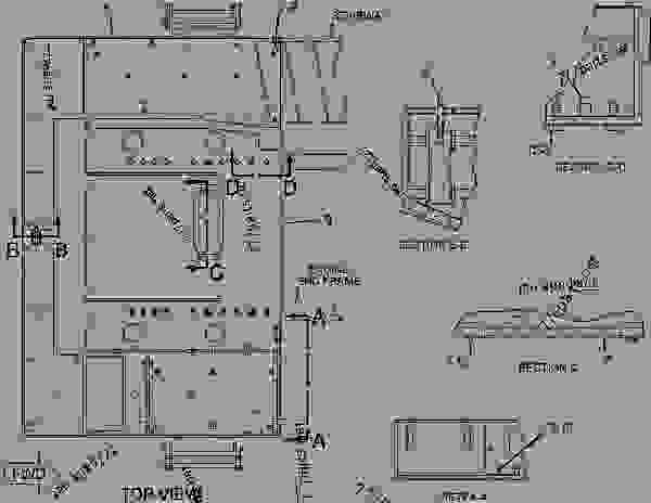 Parts scheme 2195091 BUMPER GROUP-REAR  -CUSTOM - EARTHMOVING COMPACTOR Caterpillar 836G - Custom Product Support Literature for the 834G Series II Wheel Type Tractor and 836G Series II Landfill Compactor BRL00001-UP (MACHINE) FRAME AND BODY | 777parts