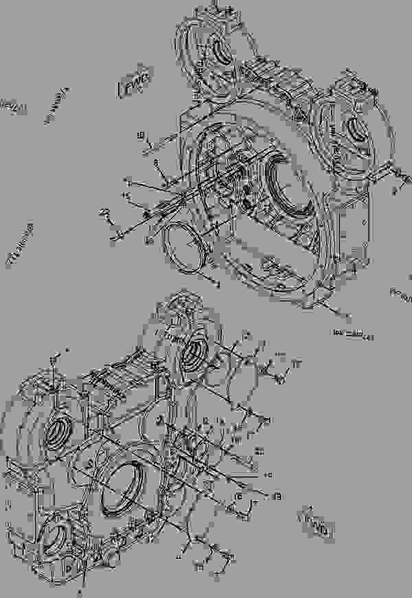 Parts scheme 2206368 HOUSING GROUP-FLYWHEEL   - COLD PLANER Caterpillar PM-200 - C-18 Caterpillar Engine For PM-200 Cold Planer P1C00001-UP (MACHINE) POWERED BY C-18 Engine BASIC ENGINE | 777parts