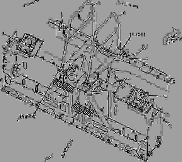 Parts scheme 2367743 INSTALLATION AR-SCREED   - ASPHALT PAVER Caterpillar AS2251 - AS2251 Screed ASP00001-UP MACHINE ARRANGEMENT | 777parts