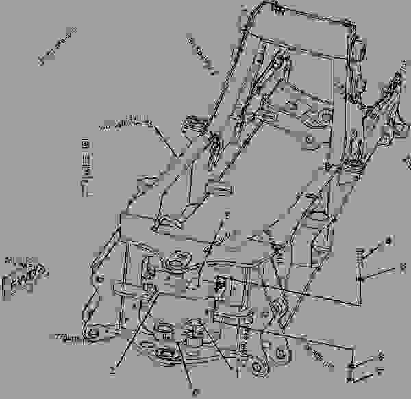 Parts scheme 2425316 FRAME GROUP-LOADER   - BACKHOE LOADER Caterpillar 420D - 420D Backhoe Loader MBH00001-UP (MACHINE) POWERED BY 3054C Engine FRAME AND BODY | 777parts