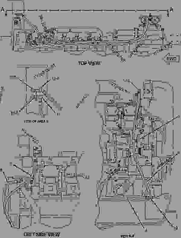 Parts scheme 1955709 LINES GROUP-FUEL   - ENGINE - INDUSTRIAL Caterpillar SPS343 - SPS343 Skid Mounted Pumper 8ZZ00001-UP FUEL SYSTEM | 777parts
