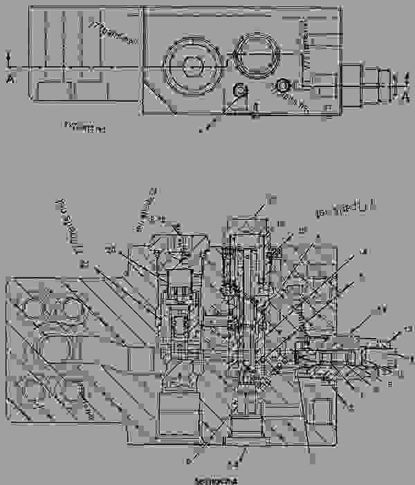 Parts scheme 2825894 VALVE AS-MANUAL  -AUXILIARY, SHUTOFF - EXCAVATOR Caterpillar 311C - 311C U Excavator CKE00001-UP (MACHINE) POWERED BY 3064 Engine HYDRAULIC SYSTEM | 777parts