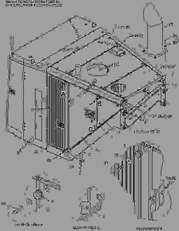 Parts scheme 1897674 HOOD & GUARD GROUP  -CUSTOM - EARTHMOVING COMPACTOR Caterpillar 836G - Custom Product Support Literature for the 834G Series II Wheel Type Tractor and 836G Series II Landfill Compactor BRL00001-UP (MACHINE) FRAME AND BODY | 777parts