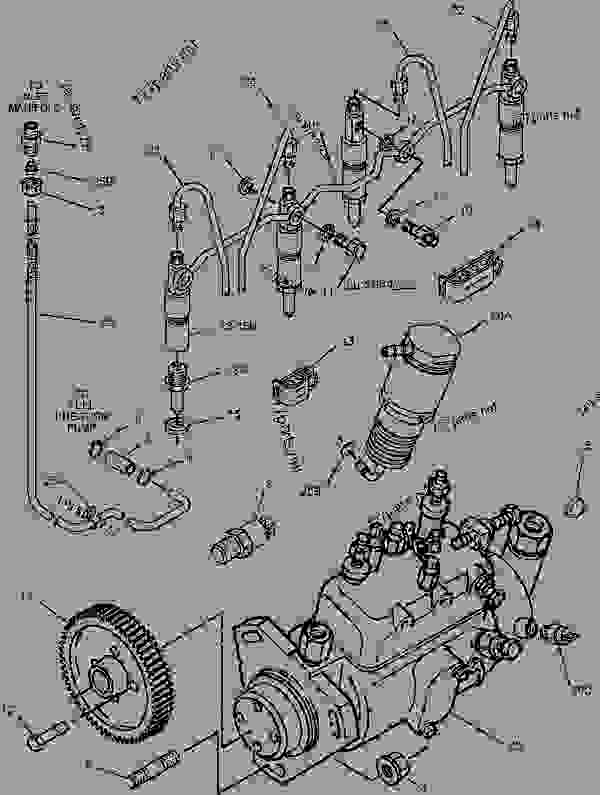 Parts scheme 1918384 PUMP GROUP-FUEL INJECTION   - ASPHALT PAVER Caterpillar BG-225C - CATERPILLAR AP-650B, BARBER-GREENE BG-225C Asphalt Pavers 5GN00001-UP (MACHINE) POWERED BY 3054 Engine FUEL SYSTEM | 777parts