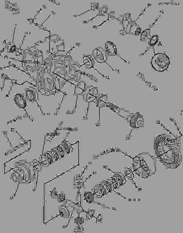 Parts scheme 1841109 AXLE GROUP-DRIVE & STEERING  -FRONT - BACKHOE LOADER Caterpillar 446D - 446D Backhoe Loader DBL00001-UP (MACHINE) POWERED BY 3114 Engine POWER TRAIN | 777parts