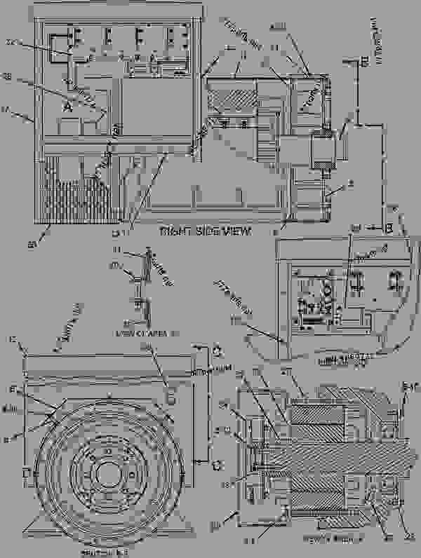 Parts scheme 1835787 GENERATOR AR   - ENGINE - GENERATOR SET Caterpillar 3412C - 3412C Generator Set BAK00001-UP GENERATORS | 777parts