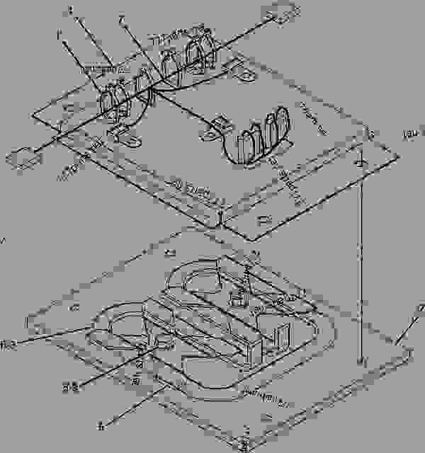 Parts scheme 8I0291 DEFLECTOR GROUP   - ASPHALT PAVER Caterpillar 8-16B - 8-16B SCREED BWL00001-UP FRAME AND BODY | 777parts
