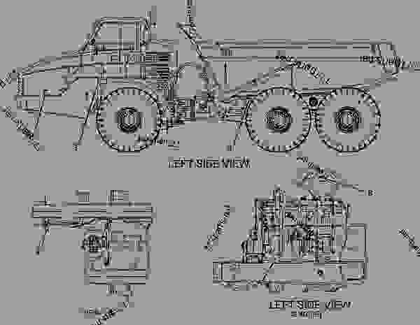 Parts scheme 1527091 PLATE & FILM GROUP  -DANISH - ARTICULATED DUMP TRUCK Caterpillar 740 - 740 Articulated Truck AXM00001-UP (MACHINE) POWERED BY 3406E Engine SERVICE EQUIPMENT AND SUPPLIES | 777parts