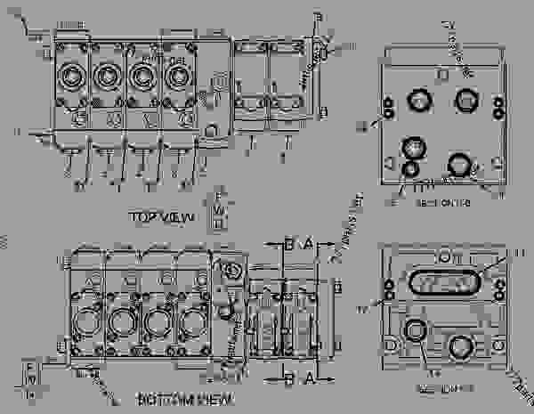 Parts scheme 2959841 VALVE GROUP-AUXILIARY  -KIT, VALVE, STD, 8TH FCTN MECH - BACKHOE LOADER Caterpillar 428E - 428E Backhoe Loader Parallel Lift SNL00001-UP (MACHINE) POWERED BY 3054C Engine HYDRAULIC SYSTEM | 777parts