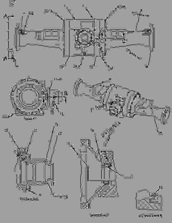 1294291 housing group-fixed axle