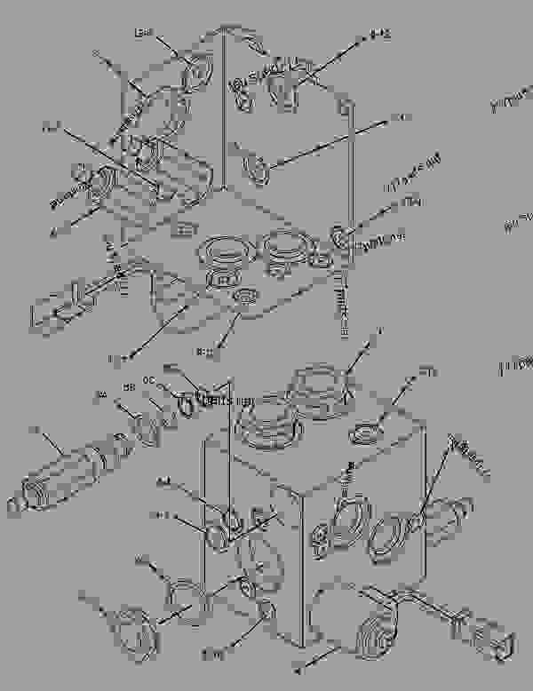 Parts scheme 1874365 VALVE GROUP-FAN REVERSING   - EARTHMOVING COMPACTOR Caterpillar 825H - CUSTOM PRODUCT SUPPORT LITERATURE FOR THE 824H WHEEL TYPE TRACTOR, THE 825H COMPACTOR (SOIL) AND THE 826H COMPACTOR (LANDFILL) AZW00001-UP (MACHINE) HYDRAULIC SYSTEM | 777parts