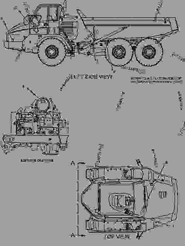 Parts scheme 1948499 PLATE & FILM GROUP  -FINNISH - ARTICULATED DUMP TRUCK Caterpillar 725 - 725 Articulated Truck AFX00001-UP (MACHINE) POWERED BY 3176C Engine SERVICE EQUIPMENT AND SUPPLIES | 777parts