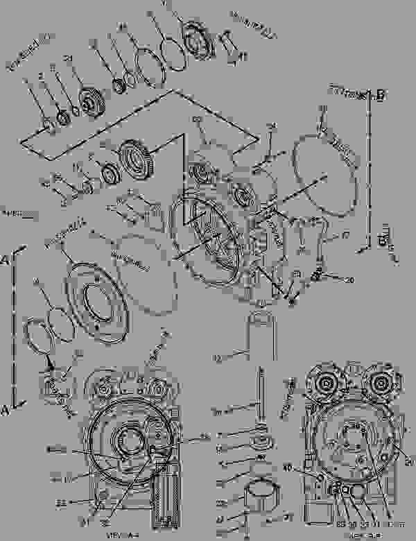 Parts scheme 1881406 DIFFERENTIAL & BEVEL GEAR GROUP  -CENTER - ARTICULATED DUMP TRUCK Caterpillar 725 - 725 Articulated Truck B1L00001-UP (MACHINE) POWERED BY C11 Engine POWER TRAIN | 777parts
