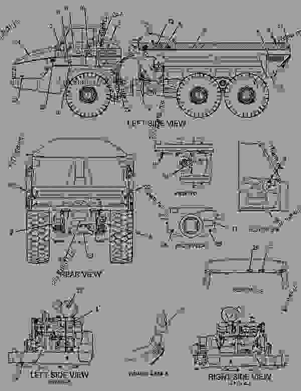 Parts scheme 2634786 PLATE & FILM GROUP   - ARTICULATED DUMP TRUCK Caterpillar 740 - 740 Ejector Articulated Truck B1R00001-UP (MACHINE) POWERED BY C15 Engine SERVICE EQUIPMENT AND SUPPLIES | 777parts