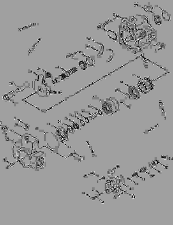 Parts scheme 3123652 MOTOR GROUP-GEAR  -HYDRAULIC FAN - ASPHALT PAVER Caterpillar AP-655D - AP655D Steel Track Asphalt Paver MAT00001-UP (MACHINE) POWERED BY C6.6 Engine HYDRAULIC SYSTEM | 777parts