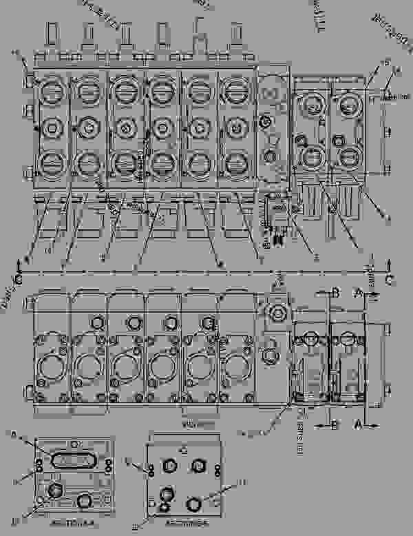 Parts scheme 2479656 VALVE GROUP-BANK 3   - BACKHOE LOADER Caterpillar 428E - 428E Backhoe Loader Parallel Lift SNL00001-UP (MACHINE) POWERED BY 3054C Engine HYDRAULIC SYSTEM | 777parts