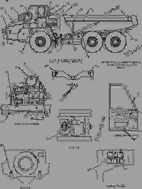 Parts scheme 1490157 PLATE & FILM GROUP  -ARABIC - ARTICULATED DUMP TRUCK Caterpillar 725 - 725 Articulated Truck AFX00001-UP (MACHINE) POWERED BY 3176C Engine SERVICE EQUIPMENT AND SUPPLIES | 777parts