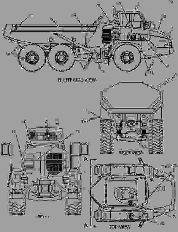 Parts scheme 1508301 PLATE & FILM GROUP   - ARTICULATED DUMP TRUCK Caterpillar 730 - 730 Articulated Truck AGF00001-UP (MACHINE) POWERED BY 3196 Engine SERVICE EQUIPMENT AND SUPPLIES | 777parts