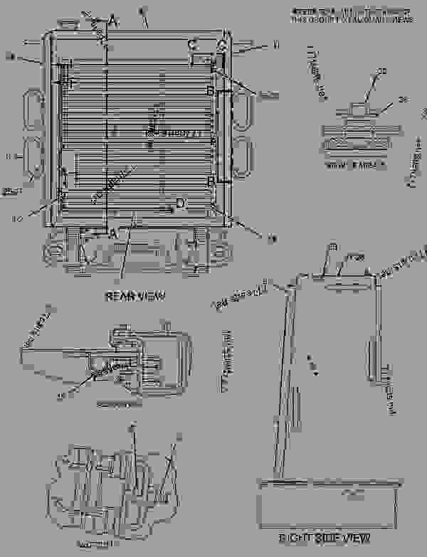 Parts scheme 1896415 GUARD GROUP-RADIATOR   - EARTHMOVING COMPACTOR Caterpillar 815F - 815F Soil Compactor BKL00001-UP (MACHINE) POWERED BY 3176C Engine FRAME AND BODY | 777parts