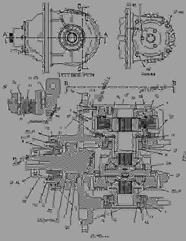 Parts scheme 1487200 DIFFERENTIAL & BEVEL GEAR GROUP  -AXLE, FRONT, REAR - ARTICULATED DUMP TRUCK Caterpillar 735 - 735 Articulated Truck B1N00001-UP (MACHINE) POWERED BY C15 Engine POWER TRAIN | 777parts