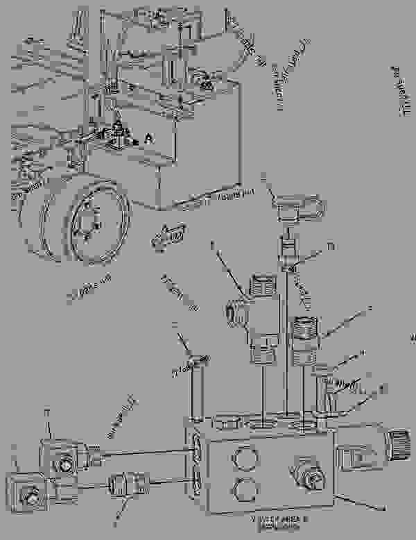 Parts scheme 2512083 VALVE & MTG GROUP-FLOW DIVIDER  -FRONT WHEEL ASSIST - ASPHALT PAVER Caterpillar BG-260D - AP-1000D, BG-260D Asphalt Paver BPW00001-UP (MACHINE) POWERED BY C-7 Engine HYDRAULIC SYSTEM | 777parts