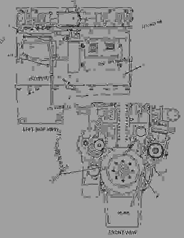location of low coolant sensor on caterpillar c 15 engine
