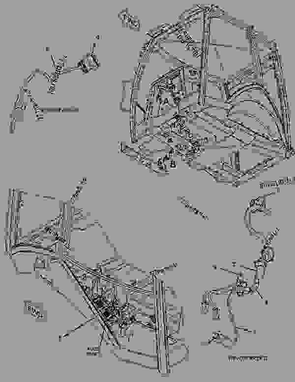 Parts scheme 2955905 WIRING GROUP-REAR   - BACKHOE LOADER Caterpillar 422E - 422E Backhoe Loader Single Tilt Side Shift Boom HBE00001-UP (MACHINE) POWERED BY 3054C Engine ELECTRICAL AND STARTING SYSTEM | 777parts