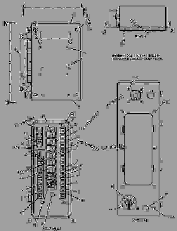 2130671 Panel Group Circuit Breaker Excavator Caterpillar 320c L - Wiring Diagram