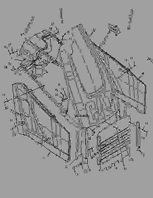 Parts scheme 2131891 FENDER GROUP-REAR   - BACKHOE LOADER Caterpillar 414E - 414E Backhoe Loader ELB00001-UP (MACHINE) POWERED BY 3054 Engine FRAME AND BODY | 777parts