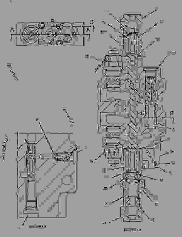 Parts scheme 1920827 VALVE GROUP-CONTROL  -STABILIZER - BACKHOE LOADER Caterpillar 430D - 430D Backhoe Loader BML00001-02280 (MACHINE) POWERED BY 3054 Engine HYDRAULIC SYSTEM | 777parts