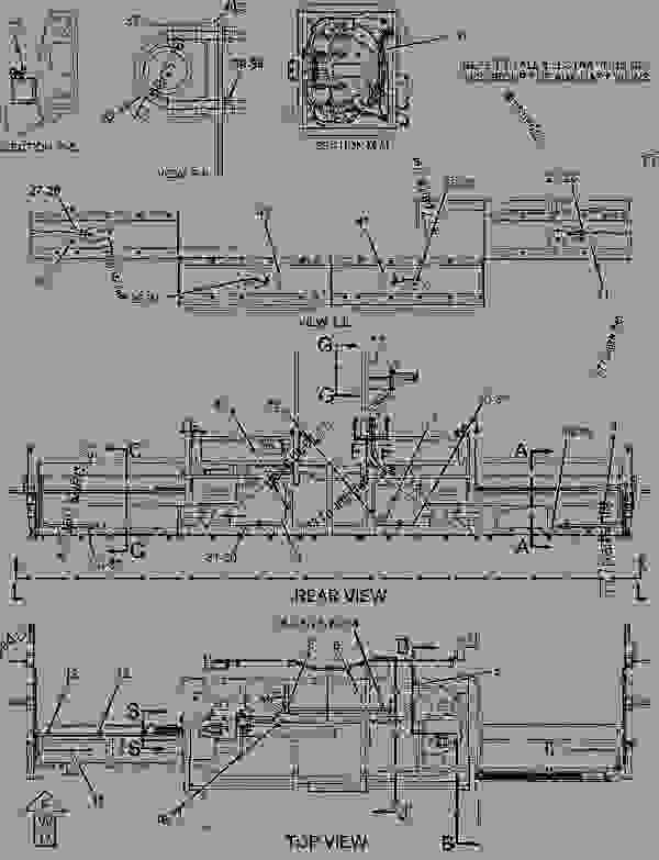 Parts scheme 2501733 WIRING GROUP-HEATER  -ELECTRIC - ASPHALT PAVER Caterpillar 10-20B - 10-20B Screed BWN00001-UP ELECTRICAL AND STARTING SYSTEM | 777parts