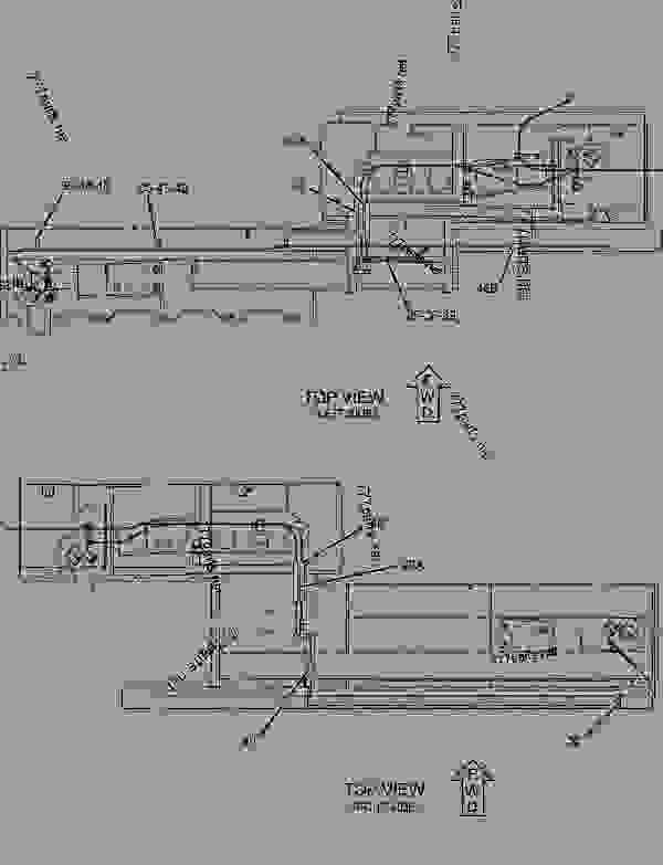 Parts scheme 1030757 LINES GROUP-BURNER  -DIESEL HEAT - ASPHALT PAVER Caterpillar 8-16B - 8-16B Screed 7MR00001-UP FUEL SYSTEM | 777parts
