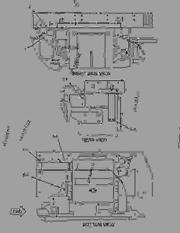 Parts scheme 3112594 DOOR GROUP-ACCESS  -RH - EARTHMOVING COMPACTOR Caterpillar 836H - Custom Product Support Literature for the 834H Wheel Type Tractor and the 836H Landfill Compactor BXD00001-UP (MACHINE) FRAME AND BODY | 777parts