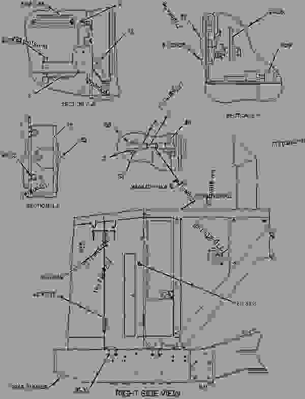 Parts scheme 1928851 COVER GROUP-BUMPER  -BATTERY COMPARTMENT ACCESS, RH - EARTHMOVING COMPACTOR Caterpillar 836H - Custom Product Support Literature for the 834H Wheel Type Tractor and the 836H Landfill Compactor BXD00001-UP (MACHINE) FRAME AND BODY | 777parts