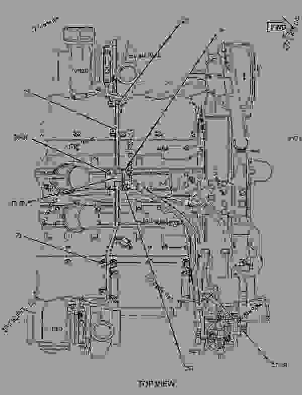 Parts scheme 2160823 LINES GROUP-WATER  -ENGINE - ENGINE - MACHINE Caterpillar C27 - D10T TRACK-TYPE TRACTOR RJG00001-UP (MACHINE) POWERED BY C27 Engine COOLING SYSTEM | 777parts