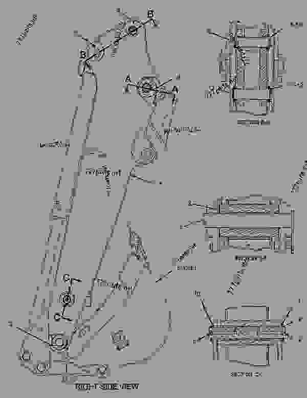 Parts scheme 2136692 LINKAGE GROUP-BACKHOE BUCKET   - BACKHOE LOADER Caterpillar 416E - 416E Single Tilt Backhoe Loader BWC00001-UP (MACHINE) POWERED BY C4.4 Engine IMPLEMENTS | 777parts