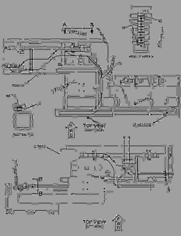 Parts scheme 1123466 LINES GROUP-VIBRATORY   - ASPHALT PAVER Caterpillar 8-16B - 8-16B Screed 7MR00001-UP HYDRAULIC SYSTEM | 777parts