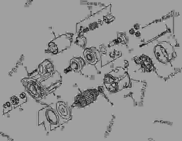 Parts scheme 1859157 STARTING MOTOR GROUP-ELECTRIC   - MINI HYDRAULIC EXCAVATOR Caterpillar 308D - 308D Mini Hydraulic Excavator FYC00001-UP (MACHINE) POWERED BY 4M40 Engine ELECTRICAL AND STARTING SYSTEM | 777parts