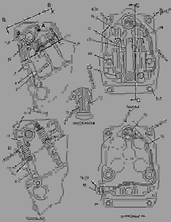 Parts scheme 1951928 VALVE MECHANISM GROUP   - ENGINE - GENERATOR SET Caterpillar 3508B - 3508B Generator Set CNB00001-UP BASIC ENGINE | 777parts
