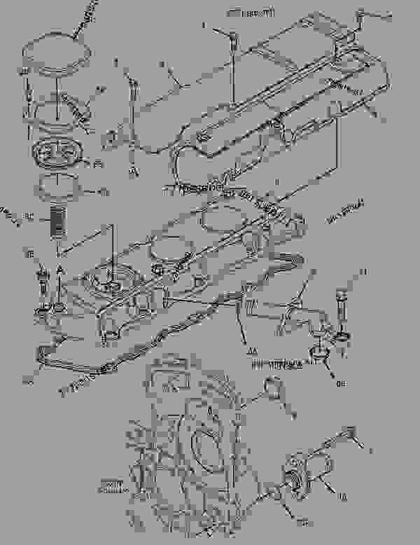 Parts scheme 2462583 COVER GROUP-VALVE MECHANISM   - BACKHOE LOADER Caterpillar 414E - 414E Backhoe Loader ELB00001-UP (MACHINE) POWERED BY 3054 Engine BASIC ENGINE | 777parts