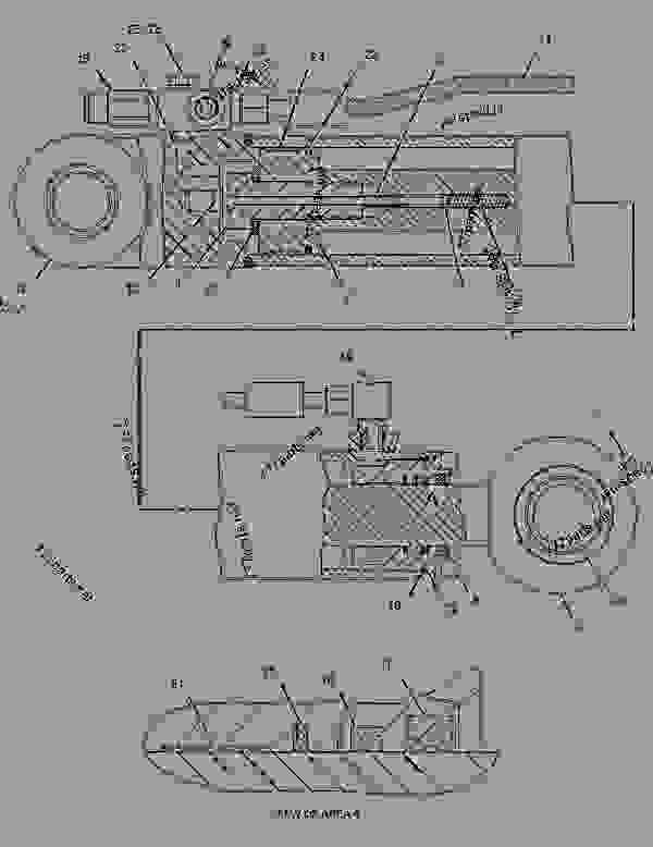 Parts scheme 2153024 CYLINDER GROUP-STEERING  -LH - ARTICULATED DUMP TRUCK Caterpillar 730 - 730 Articulated Truck AGF00001-UP (MACHINE) POWERED BY 3196 Engine STEERING SYSTEM | 777parts